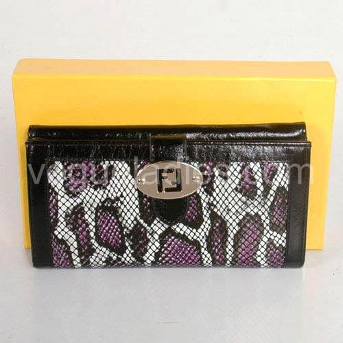 Fendi Wallet in Purple Snake Pattern 82114