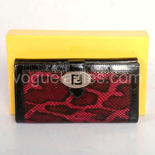 Fendi Wallet in Red Snake Pattern 82114