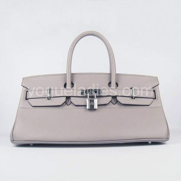 Hermes Birkin 42cm Grey Togo Leather Silver Metal