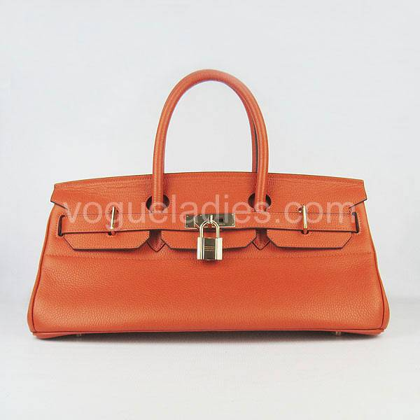 Hermes Birkin 42cm Orange Togo Leather Golden Metal
