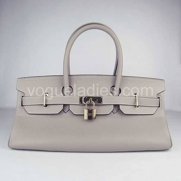 Hermes Birkin 42cm Grey Togo Leather Golden Metal