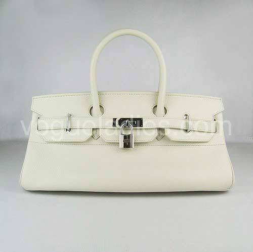Hermes Birkin 42cm Cream Togo Leather Silver Metal