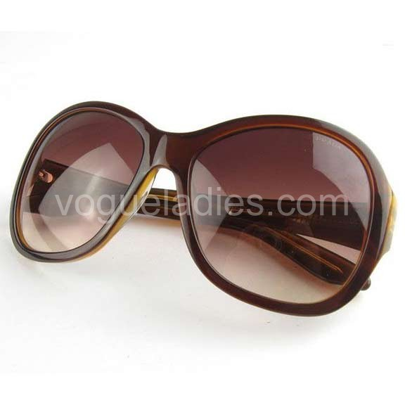 Prada Designer Sunglasses in Light Coffee