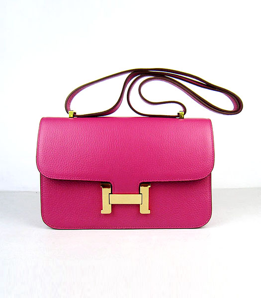 Hermes Constance Gold Lock Peach Togo Leather Bag