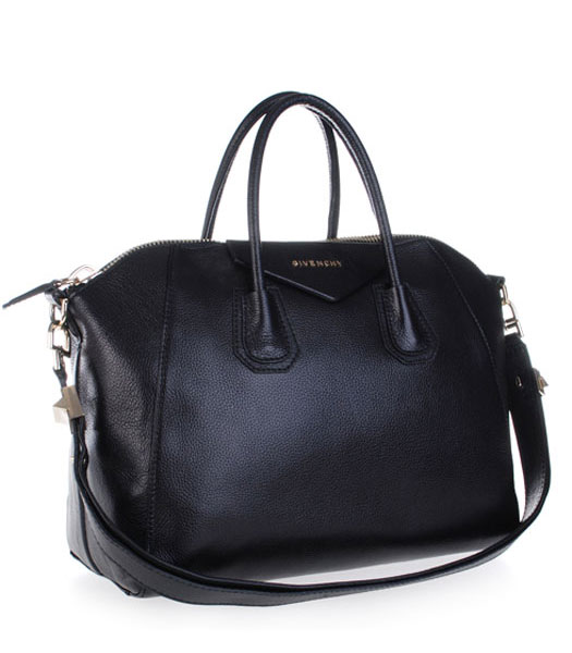 Givenchy Antigona Litchi Veins Leather Handbags in Black