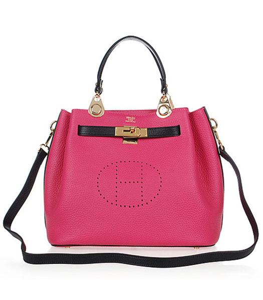 Hermes Mini Kelly 35CM Handbags In Two-Tone Fuchsia Leather