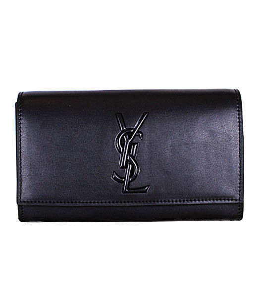 Yves Saint Laurent Belle De Jour Black Leather Clutch