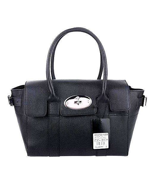 Mulberry Bayswater Small Tote Bag Black Original Leather