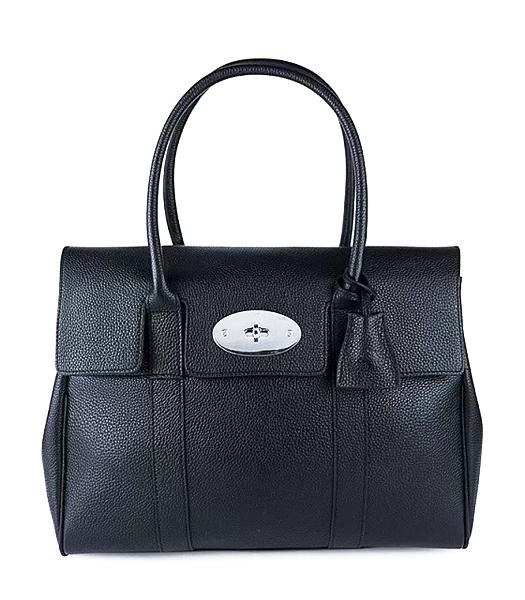 Mulberry Bayswater Medium Tote Bag Black Original Leather