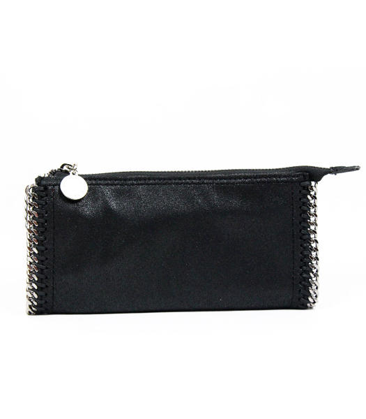 Stella McCartney Imported PVC Leather Wallet Black