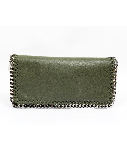 Stella McCartney High PVC Leather Women's Long Wallet Dark Green