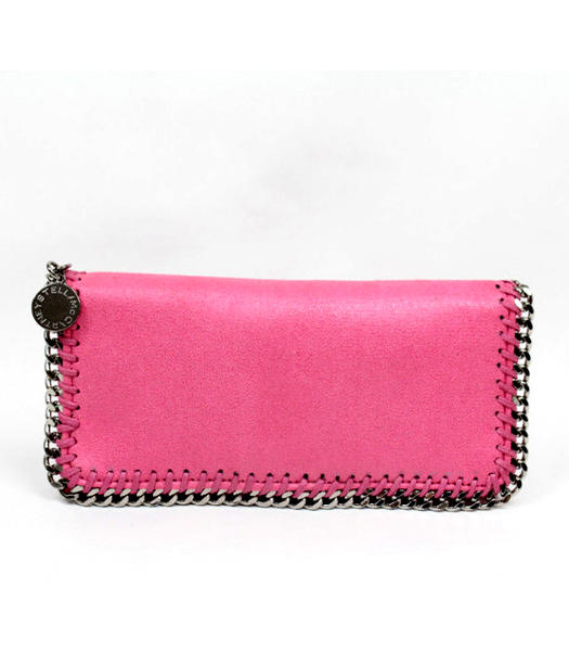 Stella McCartney High PVC Leather Women's Long Wallet Rose Red