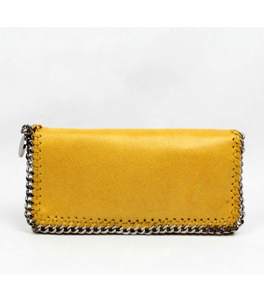 Stella McCartney High PVC Leather Women's Long Wallet Yellow