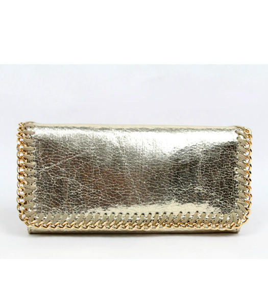 Stella McCartney High PVC Leather Women's Long Wallet Light Golden