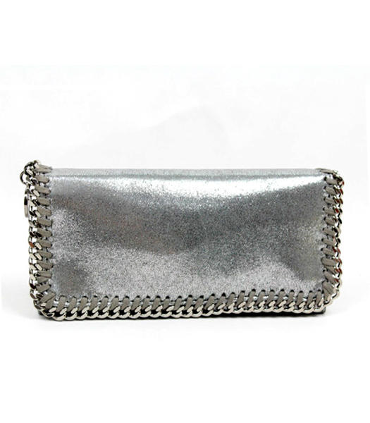 Stella McCartney High PVC Leather Women's Long Wallet Silver