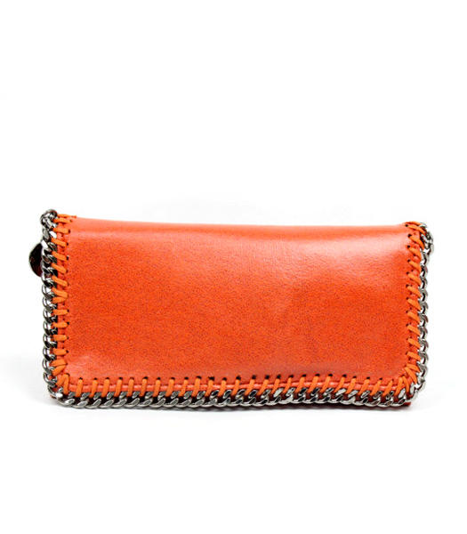 Stella McCartney High PVC Leather Women's Long Wallet Orange