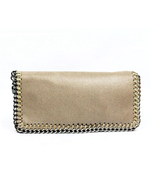 Stella McCartney High PVC Leather Women's Long Wallet Khaki
