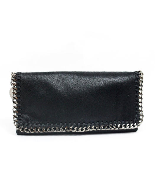 Stella McCartney High PVC Leather Women's Long Wallet Black