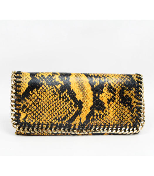 Stella McCartney High Snake PVC Leather Women's Long Wallet Yellow