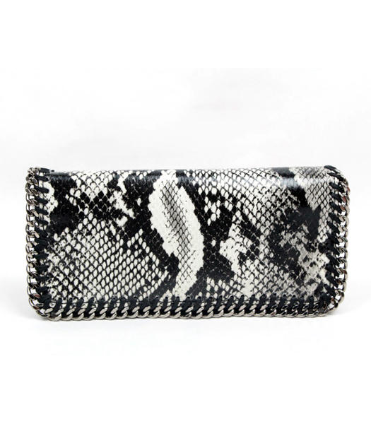 Stella McCartney High Snake PVC Leather Women's Long Wallet Grey
