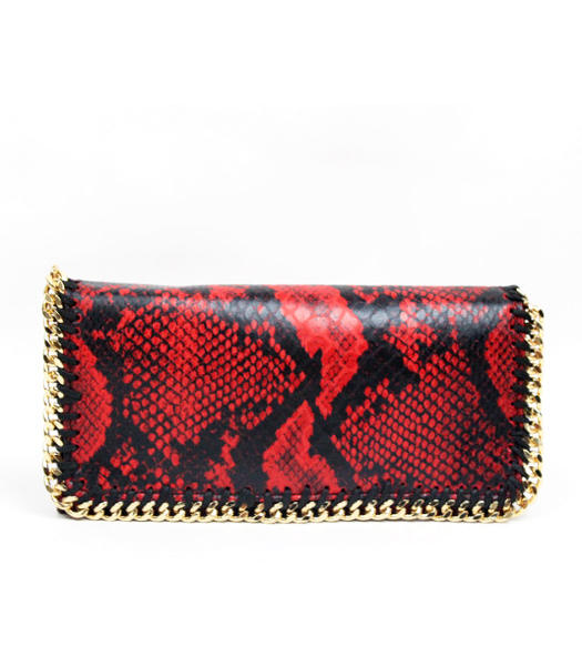 Stella McCartney High Snake PVC Leather Women's Long Wallet Red