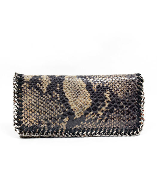 Stella McCartney High Snake PVC Leather Women's Long Wallet Coffee