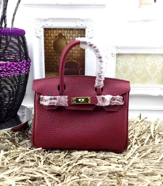Hermes Birkin Mini Jujube Red Togo Leather Strap Golden Metal