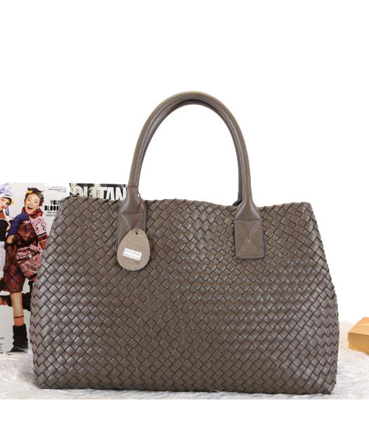 Bottega Veneta Ladies HandBags Dark Grey Sheepskin