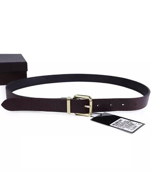 Mulberry Rotary Buckle Black/Jujube Red Lady Belt Bronze Metal
