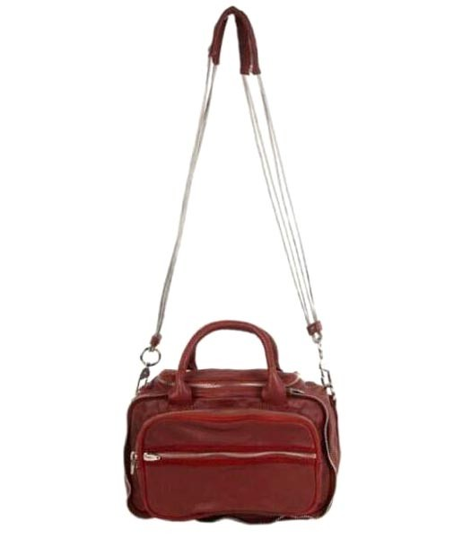 Alexander Wang Top-quality Jujube Red Leather Women Messenger Bags