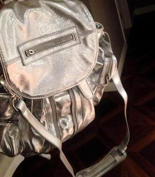 Alexander Wang 49939 Marty Nubuck Effect Backpack In Offwhite