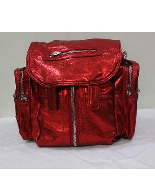Alexander Wang 49939 Marty Nubuck Effect Backpack In Fluorescent Red