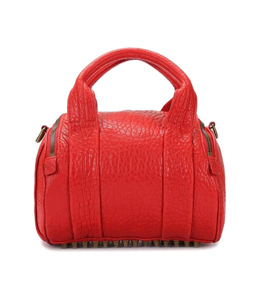 Alexander Wang A-212 Coco Small Duffle Bag Red Leather