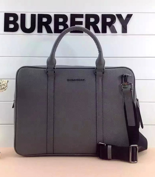 Burberry Classical Notebook Messenger Laptop Bag In Grey