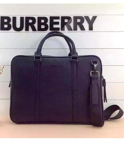 Burberry Classical Notebook Messenger Laptop Bag In Dark Blue