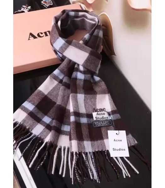 Acne Studios Fashion Couple Models Scarf In Coffee