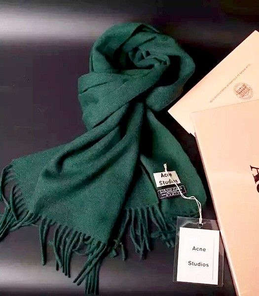 Acne Studios High-quality Lamb Wool Scarf In Dark Green