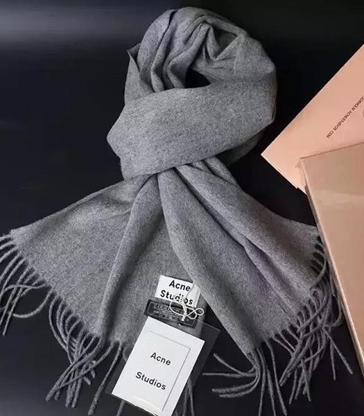 Acne Studios High-quality Lamb Wool Scarf In Grey