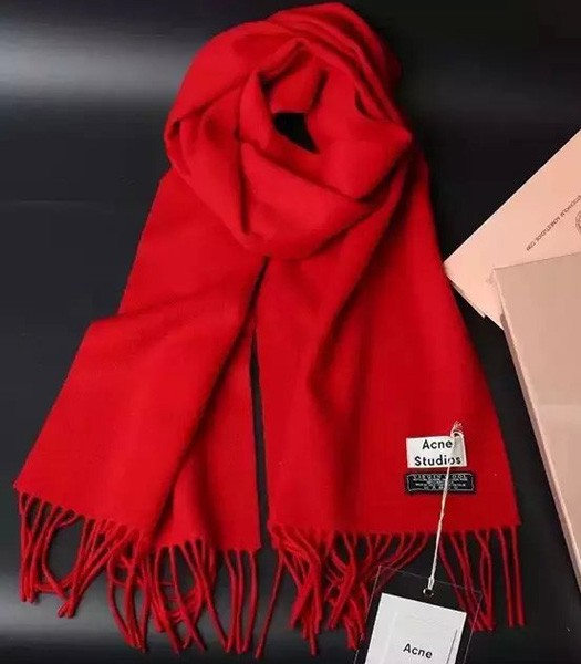 Acne Studios High-quality Lamb Wool Scarf In Red