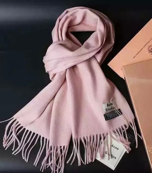 Acne Studios High-quality Lamb Wool Scarf In Pink