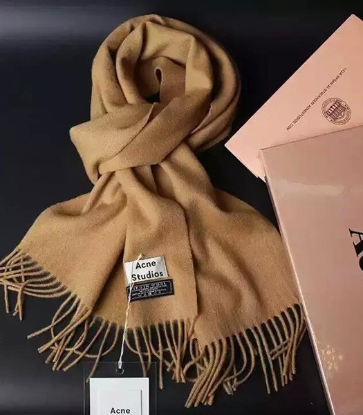 Acne Studios High-quality Lamb Wool Scarf In Brown