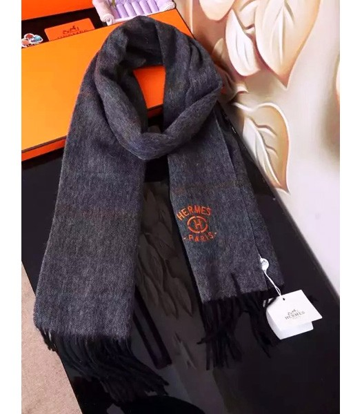 Hermes Top-quality Fashion Men Scarf In Grey