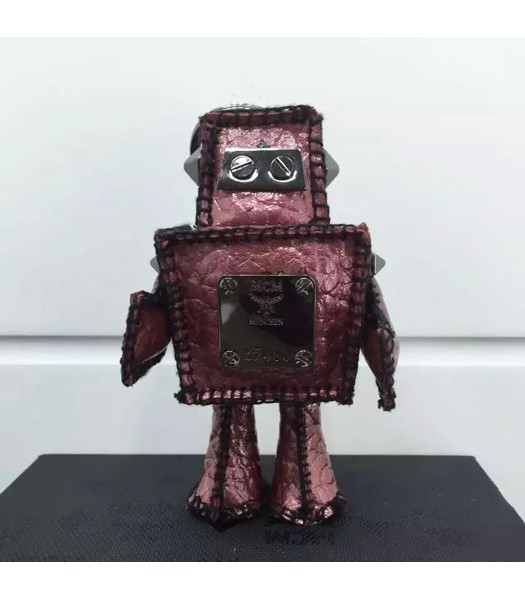 MCM Exclusive Top-quality Robot Keychian In Fuchsia