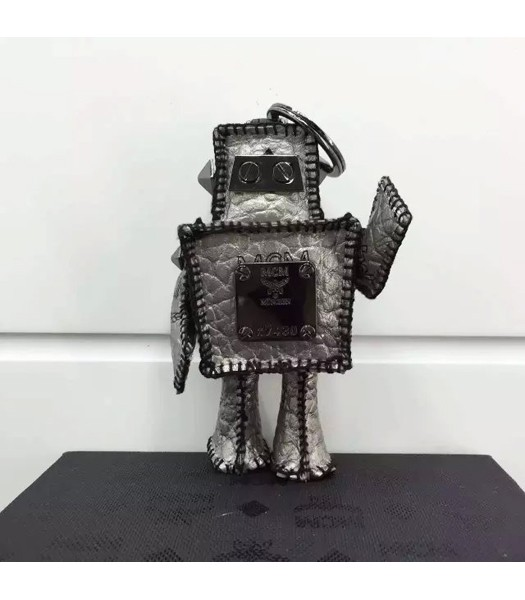 MCM Exclusive Top-quality Robot Keychian In Grey
