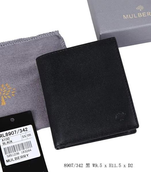 Mulberry High-quality Black Leather Wallet