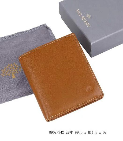 Mulberry High-quality Light Coffee Leather Wallet