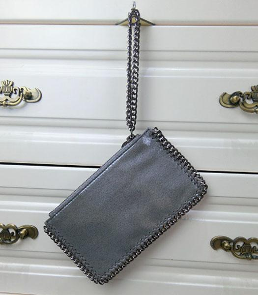Stella McCartney Falabella PVC Silver Purse S-898 Silver Chain