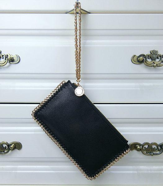 Stella McCartney Falabella PVC Black Purse S-898 Gold Chain