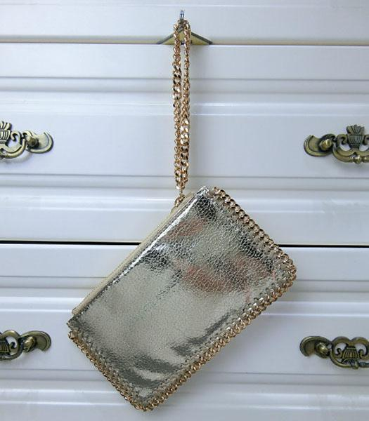 Stella McCartney Falabella PVC Light Gold Purse S-898 Gold Chain