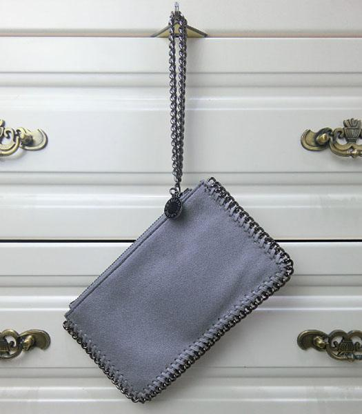 Stella McCartney Falabella PVC Grey Purse S-898 Silver Chain